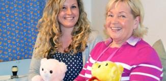 Perhepäivähoitajat Heidi Kallio ja Riitta Toivonen