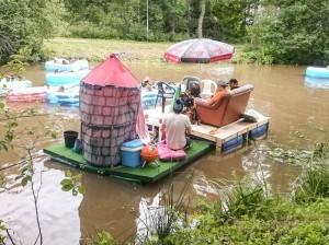 Prinsessaveneessä oli rento meininki.