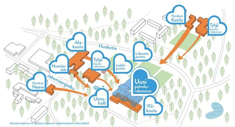 Kaavamuutosalueeseen on otettu mukaan myös Huokopuisto. KUVA HELSINGIN KAUPUNGIN KAUPUNKISUUNNITTELUVIRASTO