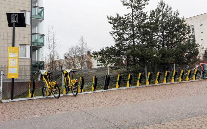 Kaupunkipyörät Viikinmäessä